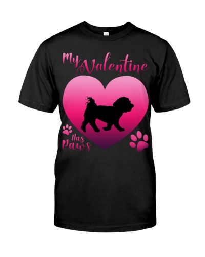 Maltese-My Valentine Has Paws