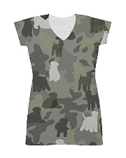 Wheaten Terrier-camouflage All-over Dress thumbnail