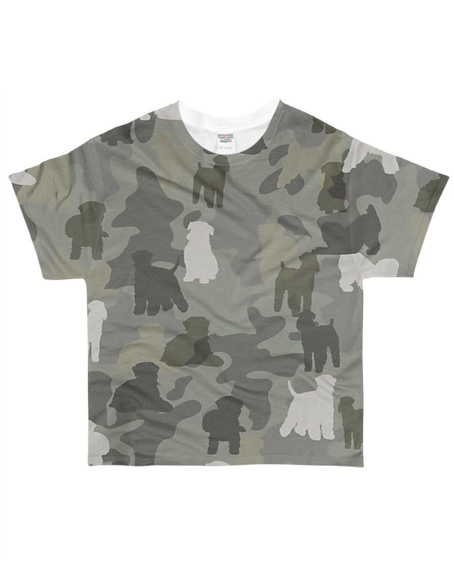Wheaten Terrier-camouflage All-over T-Shirt