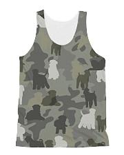 Wheaten Terrier-camouflage All-over Unisex Tank thumbnail