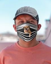 Puggle Stripes FM Cloth face mask aos-face-mask-lifestyle-06