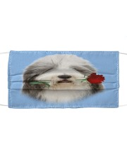 Bearded Collie Rose FM Cloth face mask front