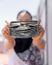 Exotic Shorthair Cat Stripes FM Cloth face mask aos-face-mask-lifestyle-07
