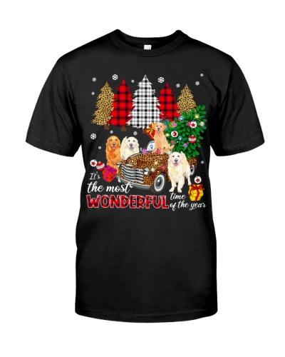 Golden Retriever-Christmas-Tree-Car