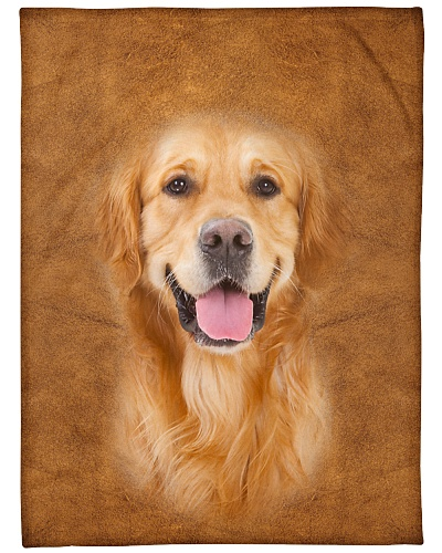 Golden Retriever Face 3D
