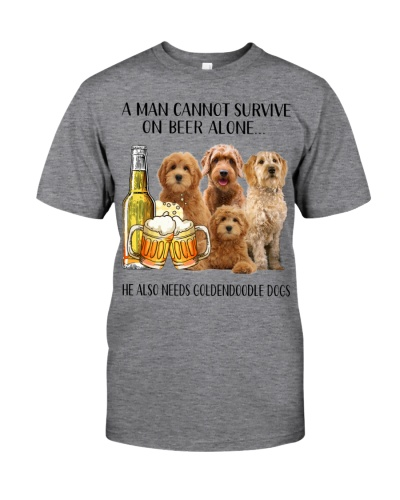 He Also Needs Goldendoodle And Beer