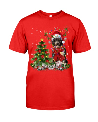 Spanish Water Dog-Reindeer-Christmas