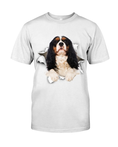 Cavalier King Charles Spaniel-Torn Paper Effect