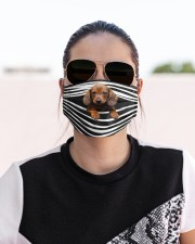 Dachshund-Stripes-FM Cloth face mask aos-face-mask-lifestyle-02