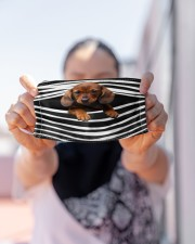 Dachshund-Stripes-FM Cloth face mask aos-face-mask-lifestyle-07