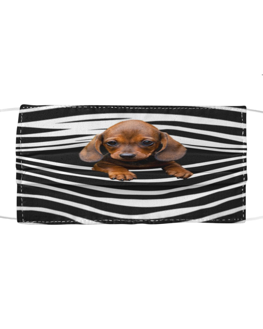 Dachshund-Stripes-FM Cloth face mask
