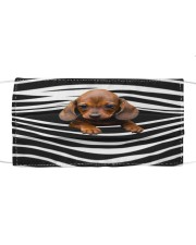 Dachshund-Stripes-FM Cloth face mask front