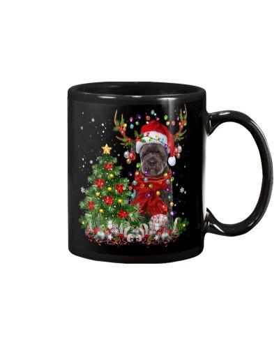Bouvier Des Flandres-Reindeer-Christmas