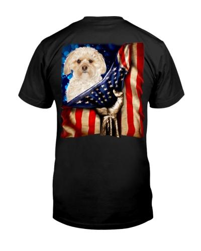 Morkie American Flag