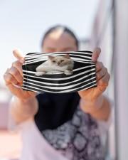 Ragamuffin Cat Stripes FM Cloth face mask aos-face-mask-lifestyle-07