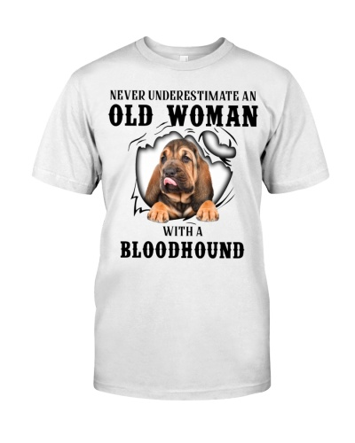 Old Woman With A Bloodhound