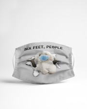 Coton De Tulear Six Feet People FM Cloth face mask aos-face-mask-lifestyle-22