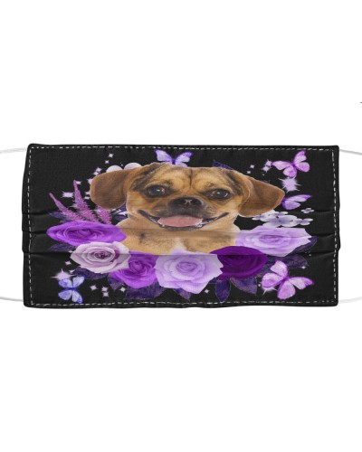 Puggle Purple Flower Face