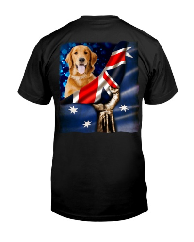 Flag of Australia-Golden Retriever