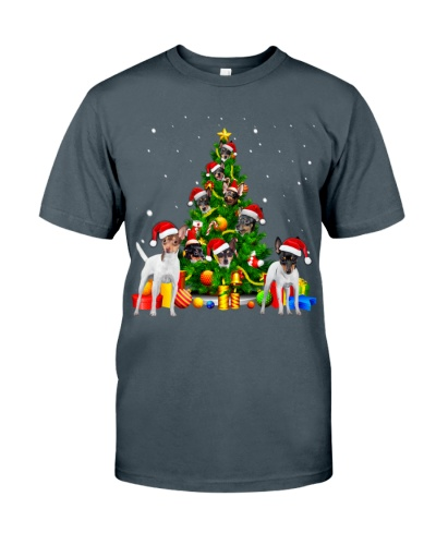 Toy Fox Terrier-Christmas Tree