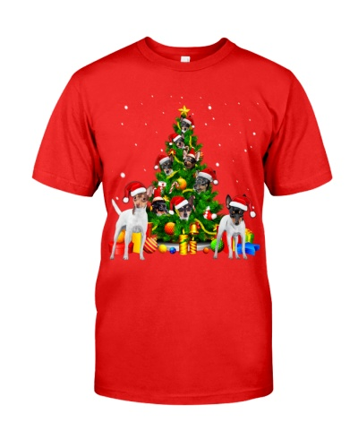 Toy Fox Terrier-Christmas Tree