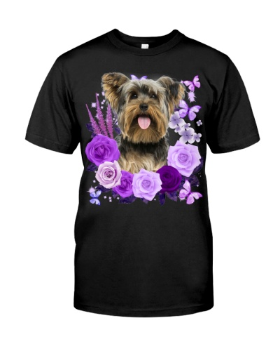 Yorkshire Terrier-Purple Flower