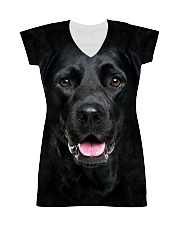 Black Labrador-Face and Hair All-over Dress thumbnail