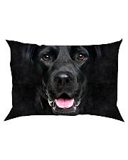 Black Labrador-Face and Hair Rectangular Pillowcase thumbnail
