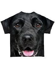 Black Labrador-Face and Hair All-over T-Shirt back