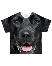 Black Labrador-Face and Hair All-over T-Shirt front