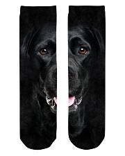 Black Labrador-Face and Hair Crew Length Socks thumbnail