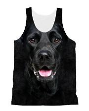 Black Labrador-Face and Hair All-over Unisex Tank thumbnail