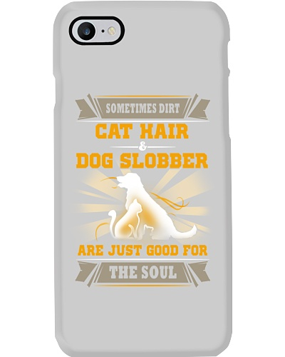 Cat hair - Dog slobber