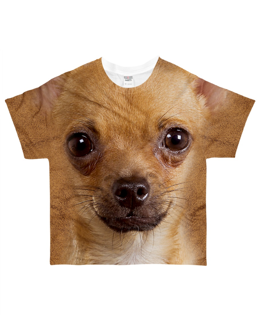 Chihuahua1-Face and Hair All-over T-Shirt