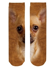 Chihuahua1-Face and Hair Crew Length Socks tile