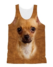 Chihuahua1-Face and Hair All-over Unisex Tank thumbnail