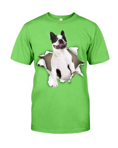 Boston Terrier-Torn Paper