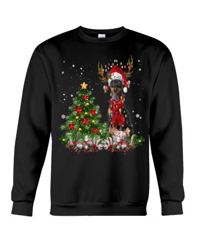 Miniature Pinscher-Reindeer-Christmas