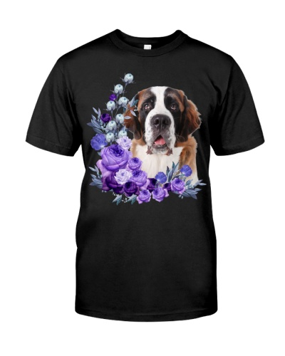 St Bernard-Purple Flower Stems