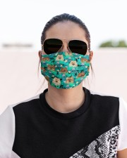 Pomeranian Summer Leaves FM Cloth face mask aos-face-mask-lifestyle-02