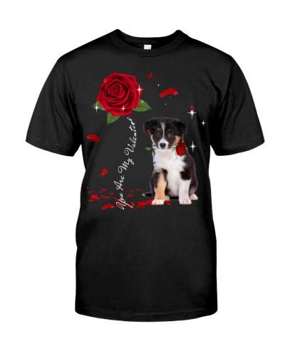 Border Collie is My Valentine-Rose