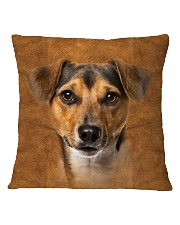 Jack Russell Terrier-Face and Hair Square Pillowcase thumbnail