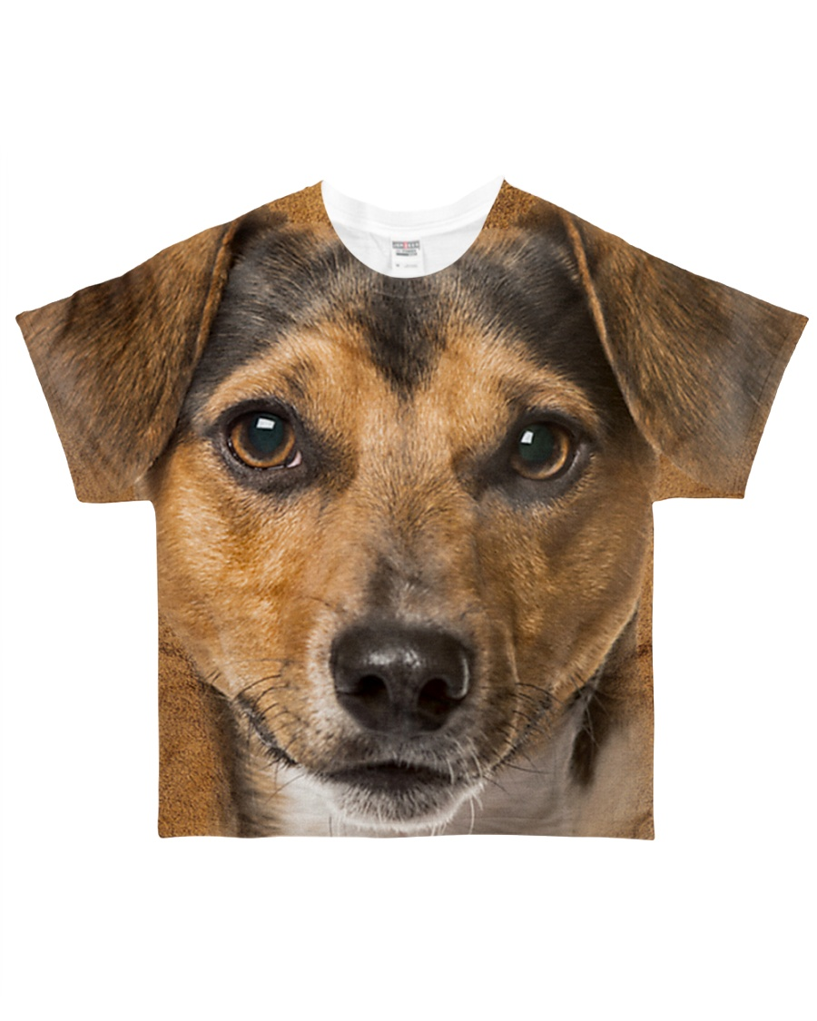 Jack Russell Terrier-Face and Hair All-over T-Shirt
