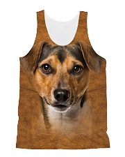 Jack Russell Terrier-Face and Hair All-over Unisex Tank thumbnail