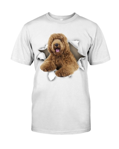 Labradoodle-Torn Paper Effect