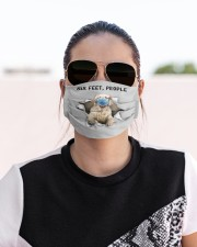 Clumber Spaniel Six Feet People FM Cloth face mask aos-face-mask-lifestyle-02