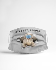 Clumber Spaniel Six Feet People FM Cloth face mask aos-face-mask-lifestyle-22