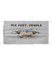 Clumber Spaniel Six Feet People FM Cloth face mask front