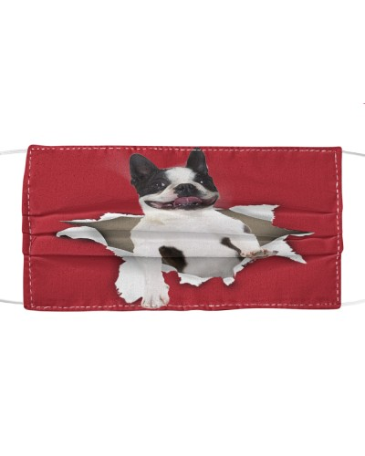 Boston Terrier Torn Paper Face