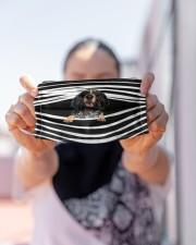 Bluetick Coonhound Stripes FM Cloth face mask aos-face-mask-lifestyle-07